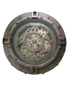 Antique Gunmetal Wall Clock