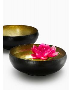 Antiqued Brass Black Bowl