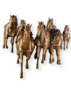 Brass Galloping Horses Wall Plaque
