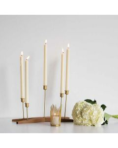 Brass Tapered Candle Holder