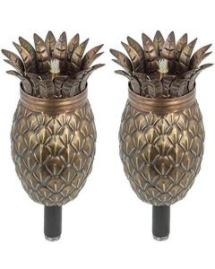 Bronze Pineapple Landscape Torch