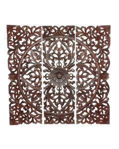 Brown Wooden Wall Panel Set