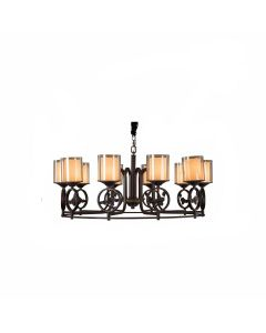 Cast Iron Hurricanes Chandelier