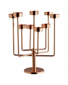 Copper Tea Light Candelabra