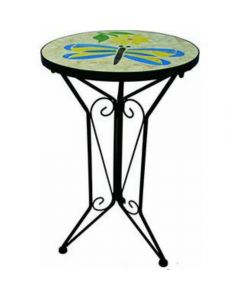 Dragonfly Plant Stand With Mosaic Top