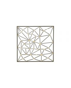 Geometric-Inspired Iron Wall Art