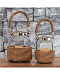 Glass Jar Candle Holder Lantern
