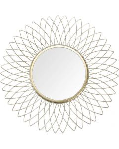 Gold Sunflower Metal Wall Mirror