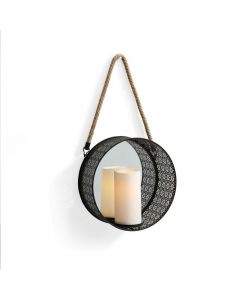 Metal Wall Candle Sconce With Mirror