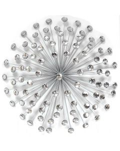 Silver Acrylic Burst Wall Art