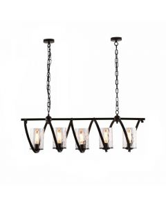 Swirling Design Rustic Metal Chandelier