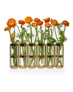 Tube Hinged Glass Vases