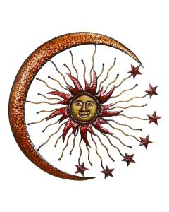 Unique Metal Sun Moon Wall Decor