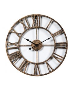 Vintage Style Golden Wall Clock