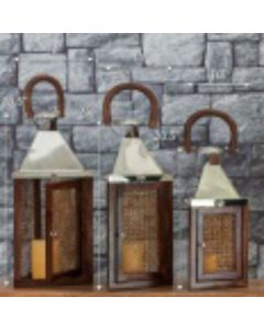 Wooden Design Candle Lanterns