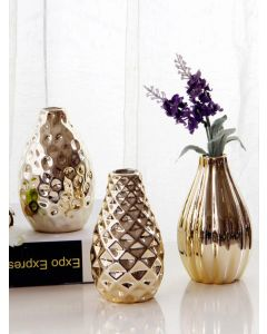 Gold Polished Ceramic Vase