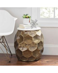 Round Honeycomb Marble Table Top